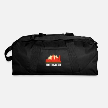 Classic Retro chicago City Skyline Vintage Shirt - Duffle Bag