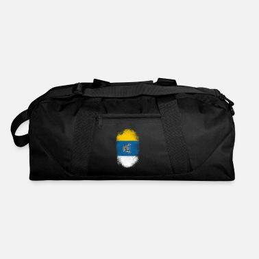 Canary Islands Canary Islands Flag Souvenir - Distressed Canarian Design - Duffel Bag