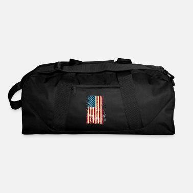 American Flag In Distress Distressed Vintage American Flag - Duffle Bag