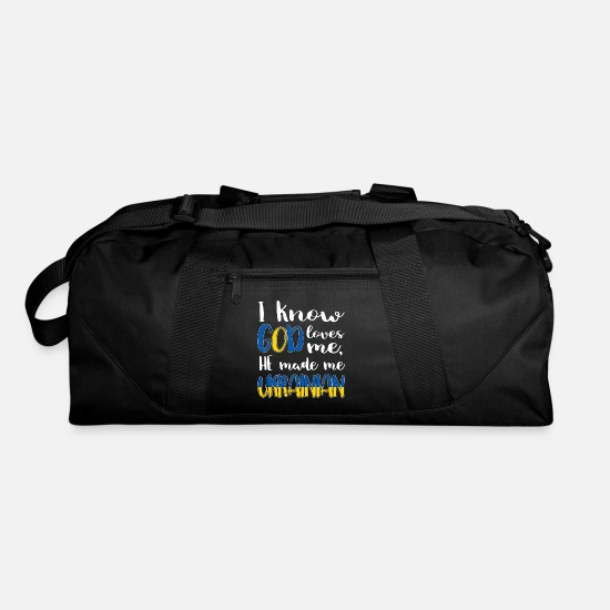 Ukraine Bags & Backpacks - God Ukraine Nation Crimean Ukrainians Gift - Duffle Bag black