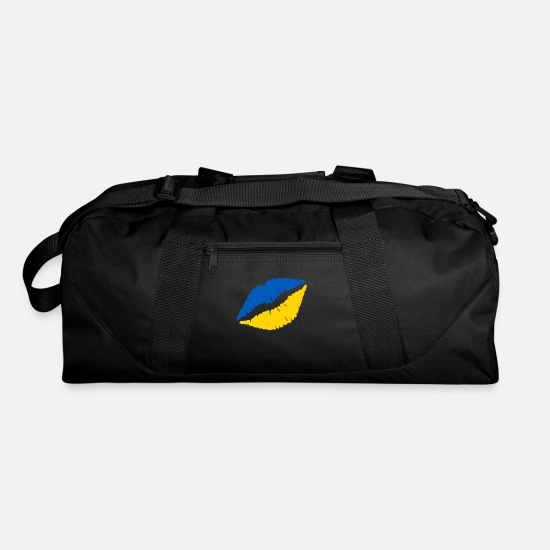 National Bags & Backpacks - Lips kiss lipstick Ukraine Kiev gift - Duffle Bag black