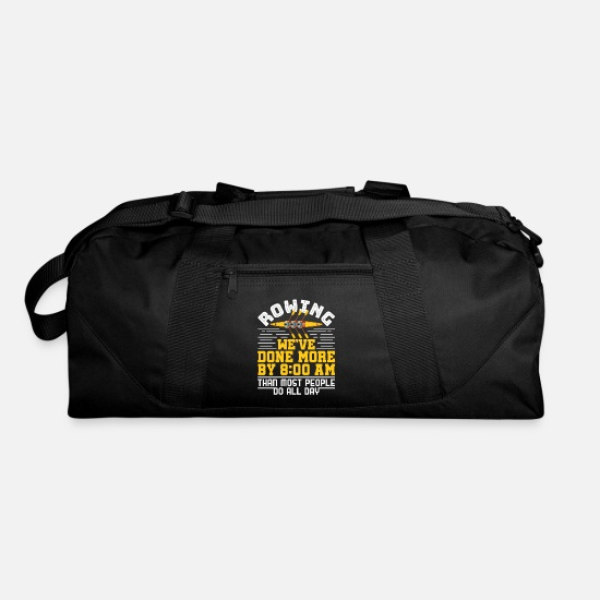 Rowing Bags & Backpacks - Rowing Funny Early Morning Practice - Duffle Bag black