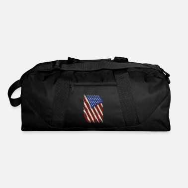 American Flag In Distress Distressed American Flag, American Flag - Duffle Bag