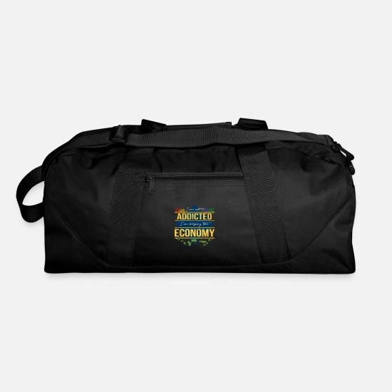 Gift Idea Bags & Backpacks - Shopping Addicted Economy - Duffle Bag black