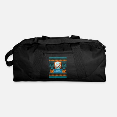 Cheers Jet Ski Like a Bearded Senior Viking Ugly Xmas - Duffel Bag