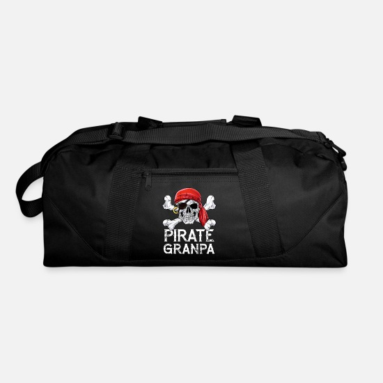 Skull And Crossbones Bags & Backpacks - Pirate Grandpa T shirt Jolly Roger Skull & - Duffle Bag black