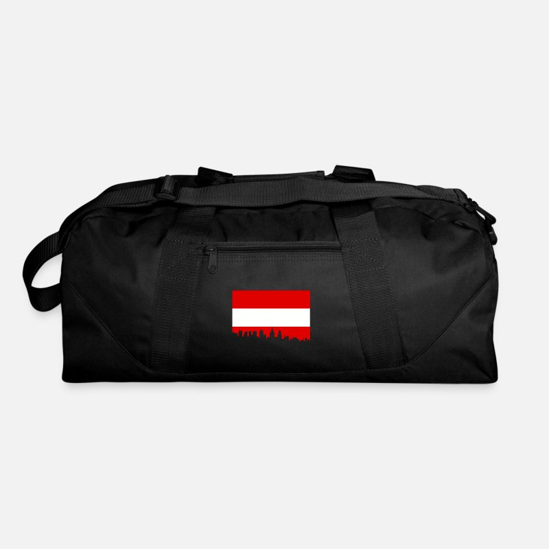 Geography Bags & backpacks - Austria Vienna Alps mountains gift - Duffle Bag black