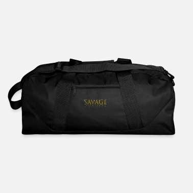 Rapper Savage Gold Letter Reflection T-shirt - Duffle Bag