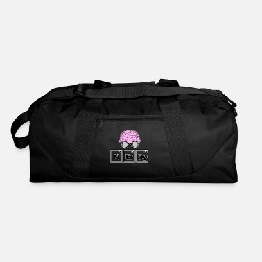 Periodic Table Nerdy - periodic table with brain - Duffle Bag
