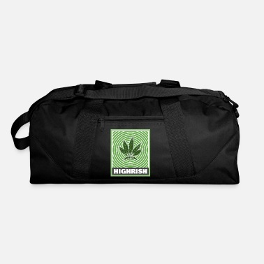 Trippy Weed Highrish Trippy St Patricks Day for Stoners - Duffle Bag