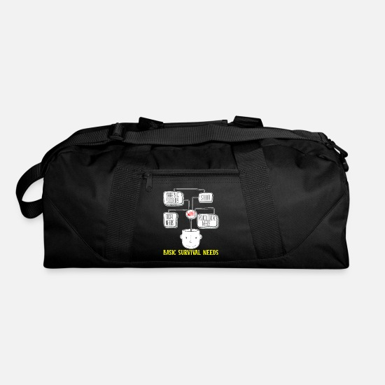 Technology Bags & Backpacks - Basic Survival Needs Wifi Information Technology - Duffle Bag black