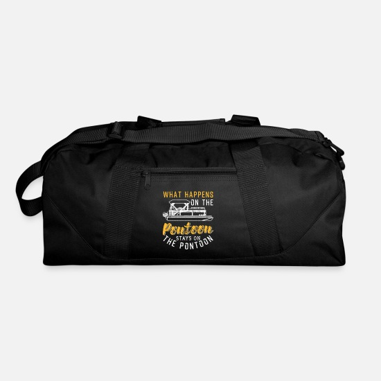 Boat Bags & Backpacks - What Happens On The Pontoon Stays On The Pontoon - Duffle Bag black