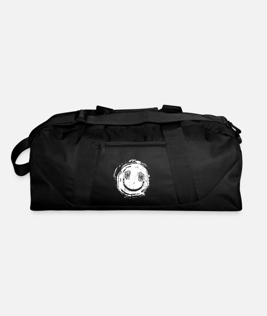 Techno Bags & Backpacks - Smilie music headphones - Duffle Bag black