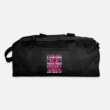 Sugar Spice And Everything Ice Hockey Girl Hockey Girl Sugar Spice Ice - Duffle Bag