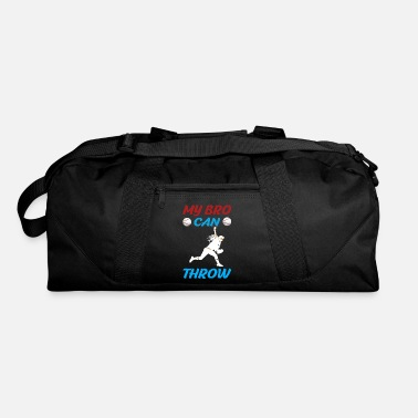 Wide Receiver Baseball My bro can throw Baseball Pitcher Brother - Duffle Bag
