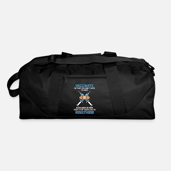 Gift Idea Bags & Backpacks - Vaccinate - Duffle Bag black