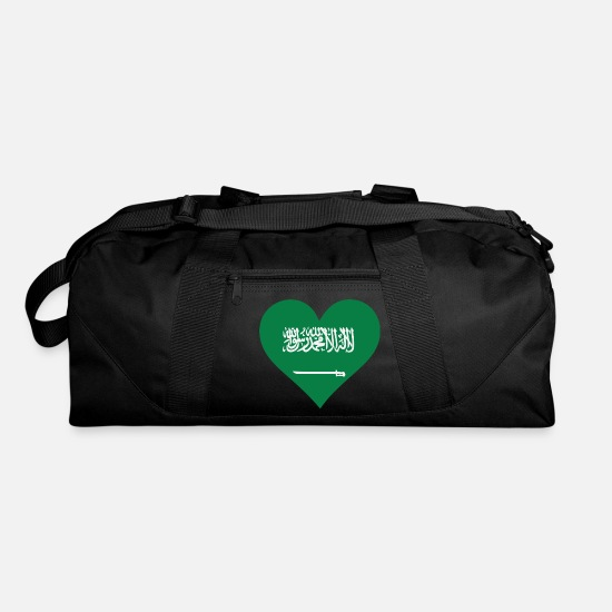 Arabia Bags & Backpacks - A Heart For Saudi Arabia - Duffle Bag black