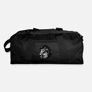 Emblem Logo horse head animal wildlife cool vector image - Duffle Bag