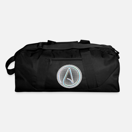 Atheism Bags & Backpacks - atheist atheism god jesus believe cool circle - Duffle Bag black