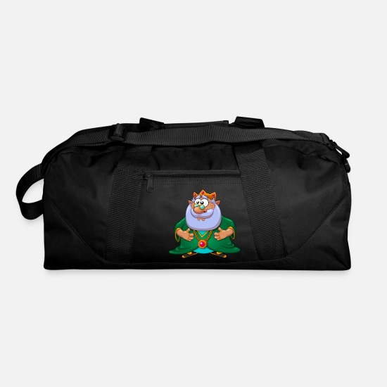 Image Bags & Backpacks - fantasy fairy tale character Elf King - Duffle Bag black