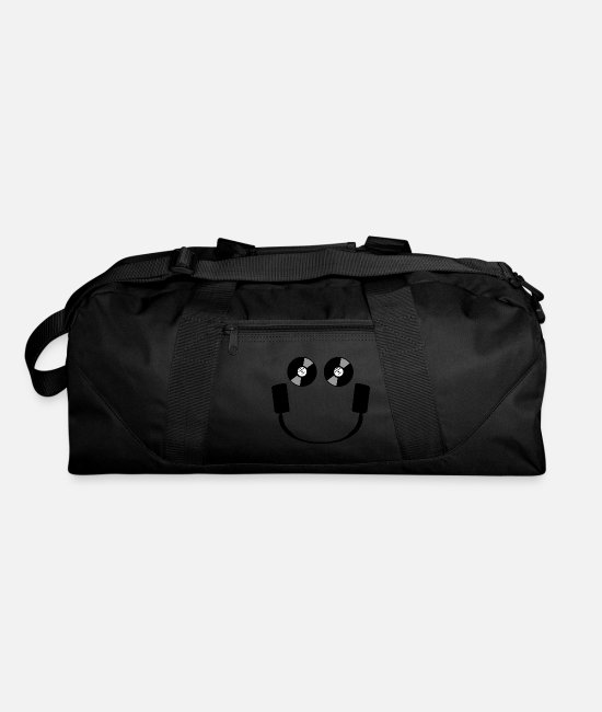 Headphones Bags & Backpacks - Smiley Headphones - Duffle Bag black