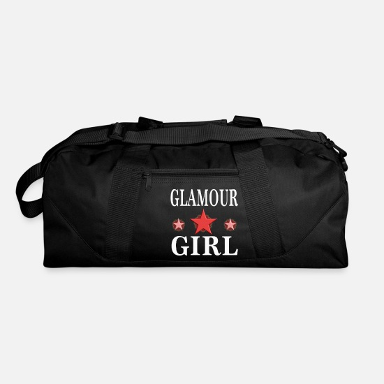 Birthday Bags & Backpacks - Glamour Girl woman girly birthday gift 2 - Duffle Bag black