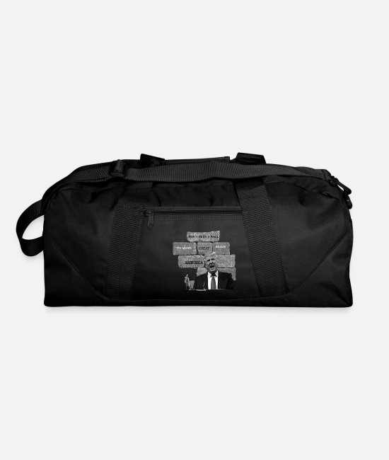Red Bags & Backpacks - Trump Doesn't Need A Wall To Make America Great. - Duffle Bag black