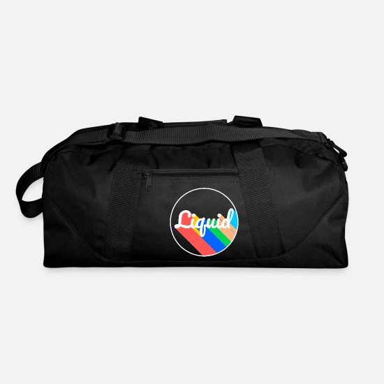 Digital Bags & Backpacks - liquid logo - Duffle Bag black