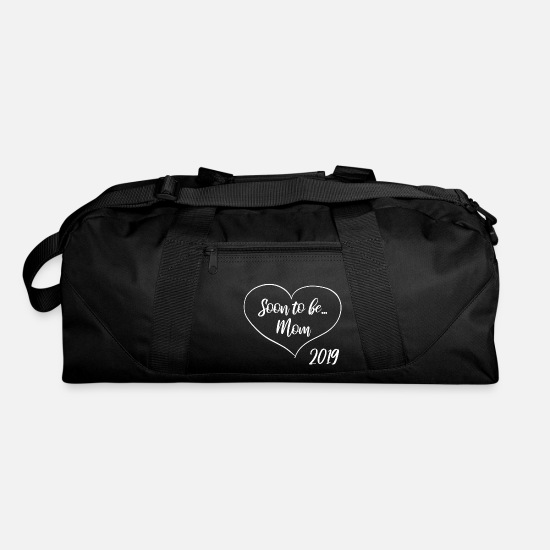 Mummy Bags & Backpacks - soon to be mom - mom 2019 - mom to be - heart - Duffle Bag black