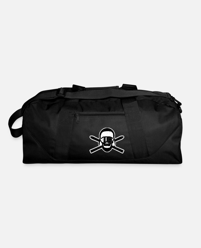 Ski Bags & Backpacks - Ski pirate skull eith ski goggles - Duffle Bag black