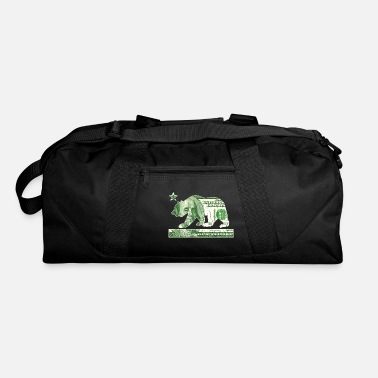 California Flag Money Bear (vintage distressed) - Duffle Bag
