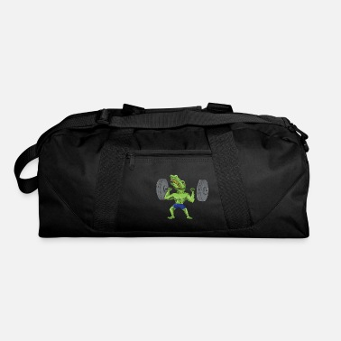 Sobek Sobek Weightlifter Lifting Barbell Caricature - Duffle Bag