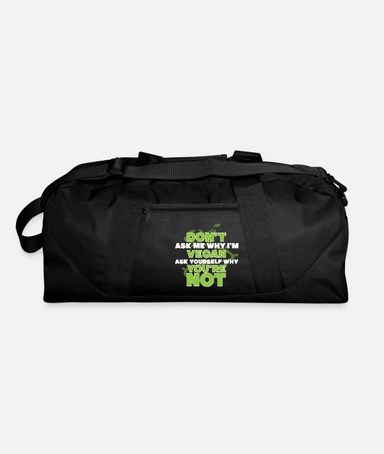 Rights Bags & Backpacks - Vegan animal welfare - Duffle Bag black