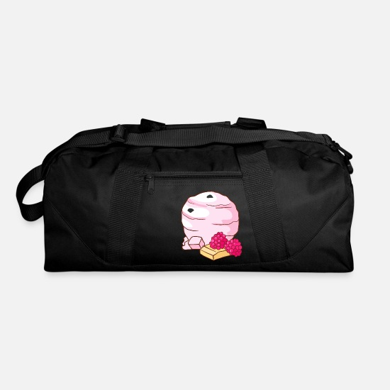 Candy Bags & Backpacks - Raspberry Icecream Gelato Sundae Summer Sherbet Fo - Duffle Bag black