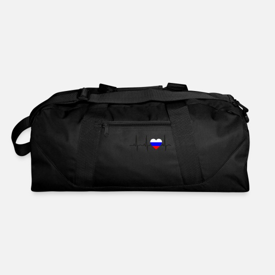 Love Bags & Backpacks - I LOVE ekg heartbeat Russland russia sovjet - Duffle Bag black