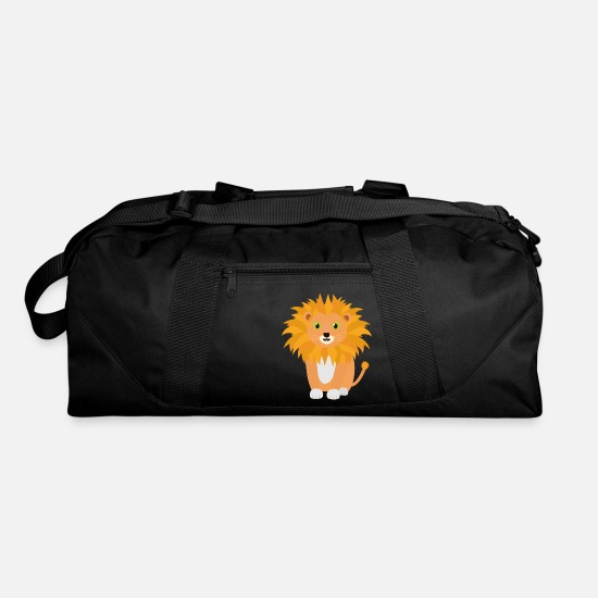 Zebra Bags & Backpacks - Lion with green eyes Si413 - Duffle Bag black