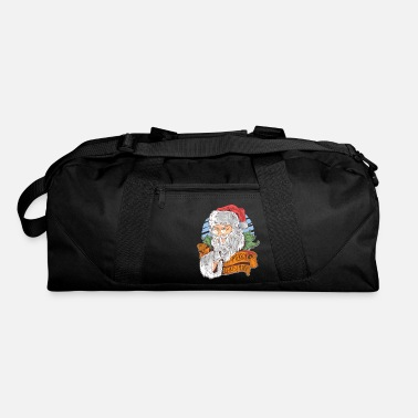Christmas Merry Christmas with vintage Santa Claus - Duffle Bag