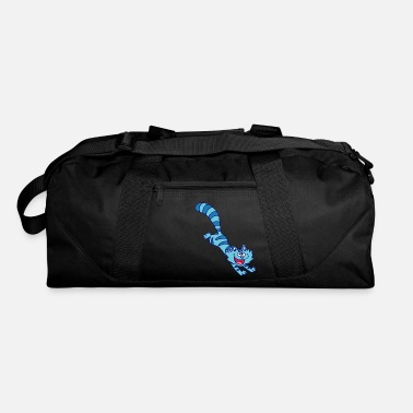 Cheerful Madness Blue Cartoon Cat by Cheerful Madness!! - Duffle Bag