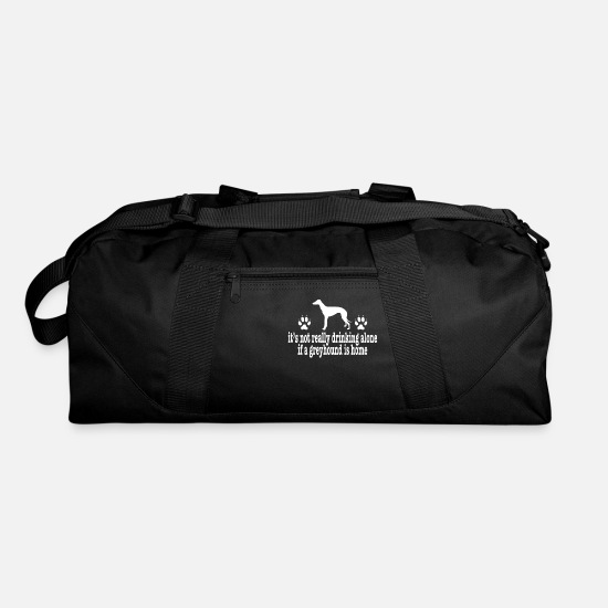 Day Bags & Backpacks - Anti Valentines Day Greyhound Owner Shirt - Duffle Bag black