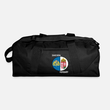 sweden hungary crest text - Duffle Bag