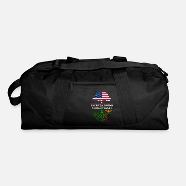 American With Zambian Roots American Grown with Zambian Roots Zambia Design - Duffle Bag