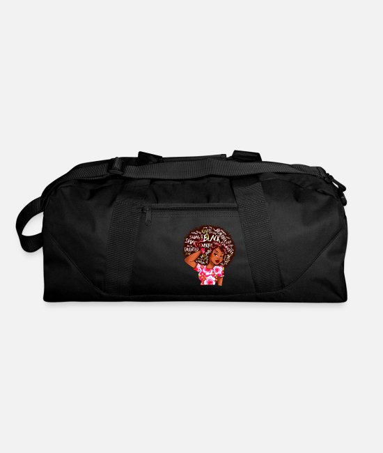 Matter Bags & Backpacks - Black Afro Word Art Natural Hair - Duffle Bag black