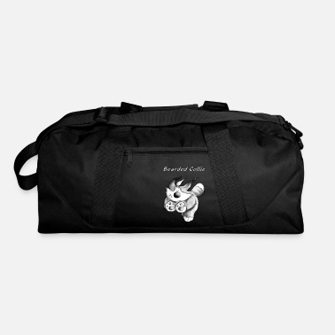Bearded Running Bearded Collie - Dog Cartoon - Gift - Duffle Bag