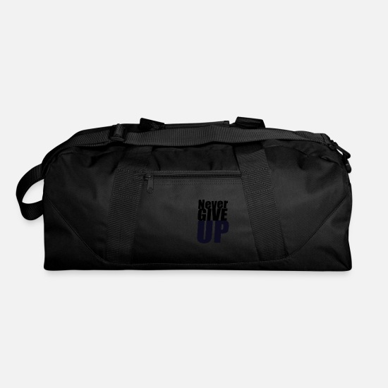 Never Give Up Bags & Backpacks - Never give up - Duffle Bag black