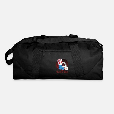 Wife Cute Cat Cats and Tats Tattoo - Duffle Bag