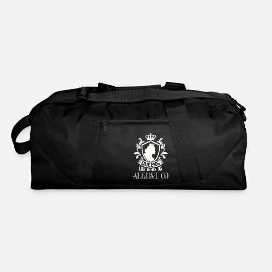 Born Bags & Backpacks - Queens are born on August 09 - Duffle Bag black