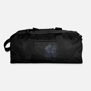 Elk Mountain forest with elk (Blue) - Duffle Bag