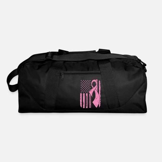 Cancer Bags & Backpacks - Fibromyalgia Awareness Breast Cancer - Duffle Bag black