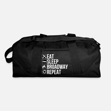Broadway Funny Stage Actor Gift - Eat Sleep Broadway Modern - Duffel Bag