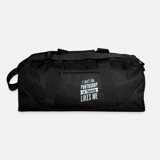 Art Bags & Backpacks - I don,t like Photoshop - Duffle Bag black